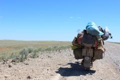 Kazachstan - piesok, prach, piesok, prach